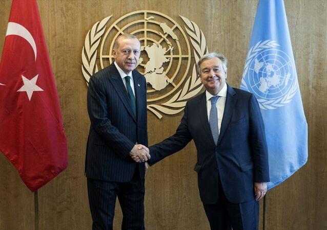 Erdoğan ile Guterres ile görüştü