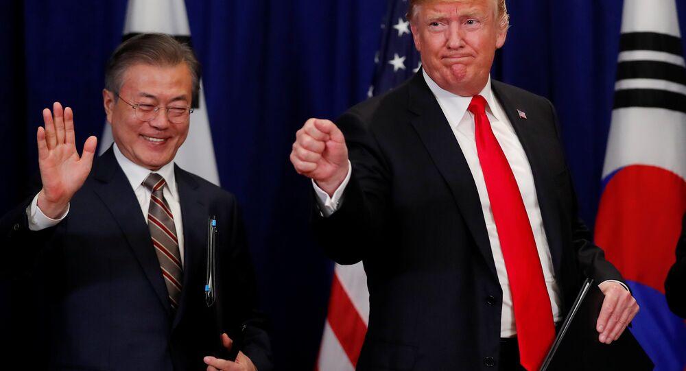 Güney Kore Devlet Başkanı Moon Jae-in ve ABD Başkanı Donald Trump