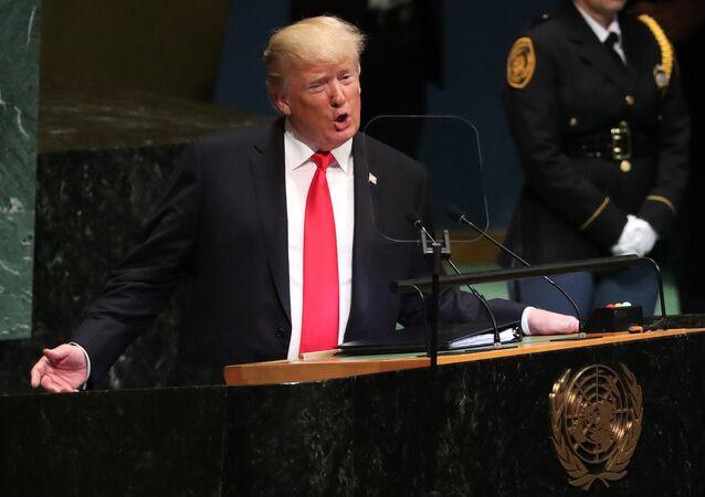 Donald Trump 73. BM Genel Kurulu'nda konuştu.