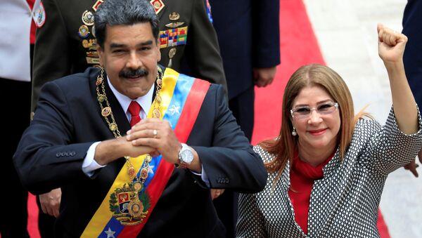 Nicolas Maduro-Cilia Flores - Sputnik Türkiye