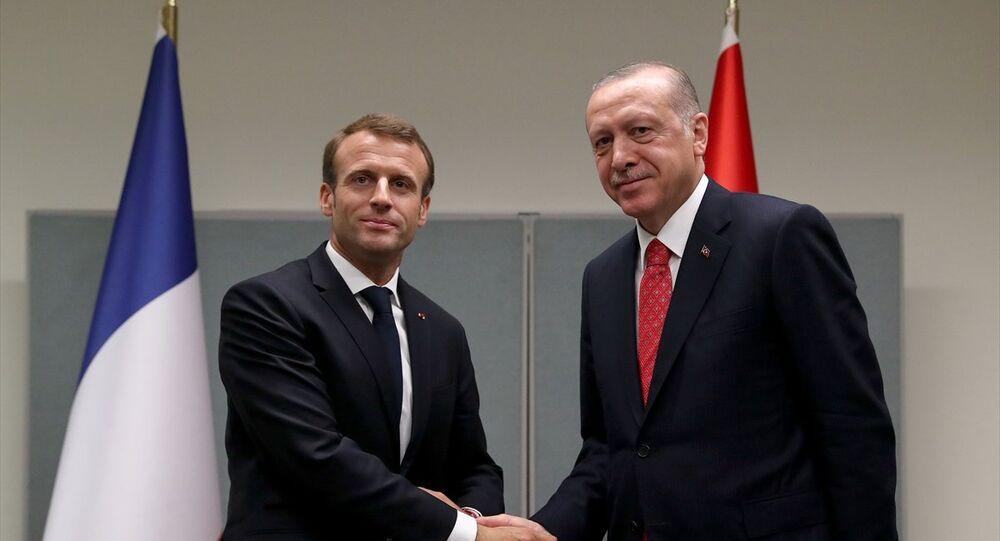 Cumhurbaşkanı Recep Tayyip Erdoğan, Fransa Cumhurbaşkanı Emmanuel Macron