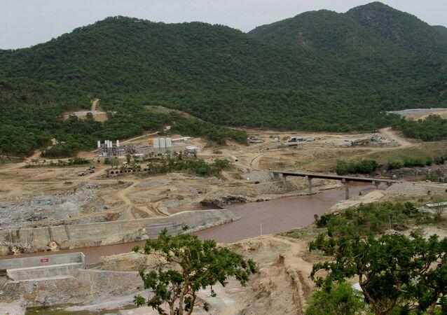 Etiyopya'daki Hedasi Barajı'nın inşaatı