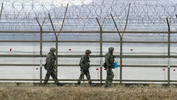 Güney Kore-Kuzey Kore sınırı - Sputnik Türkiye