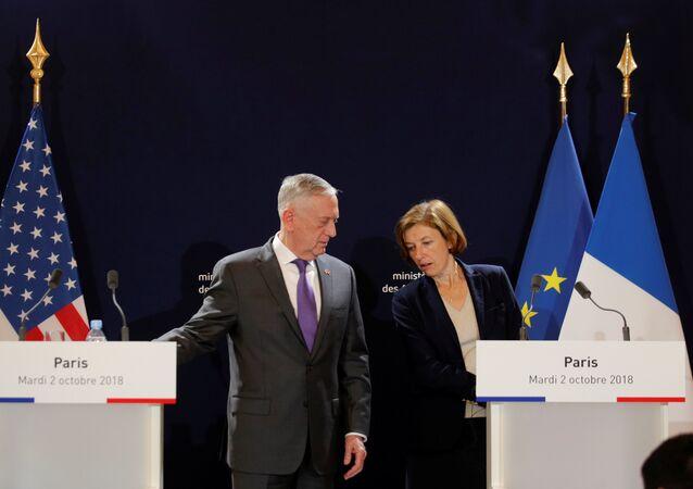 ABD Savunma Bakanı James Mattis- Fransa Savunma Bakanı Florence Parly