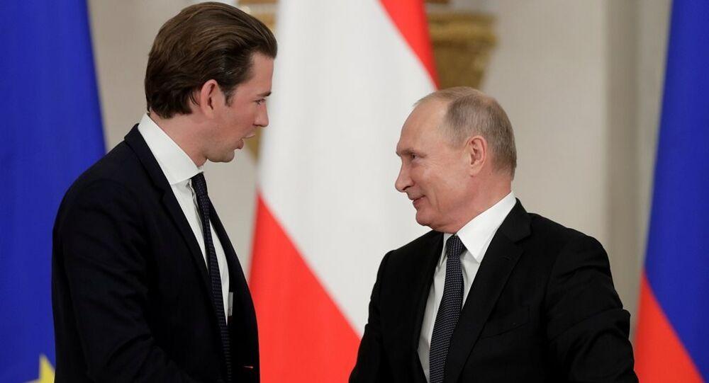 Rusya Devlet Başkanı Vladimir Putin ile Avusturya Başbakanı Sebastian Kurz
