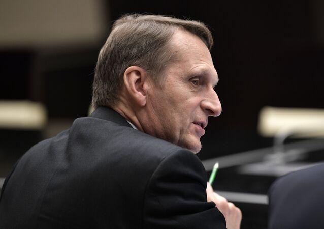 Foreign Intelligence Service Director Sergei Naryshkin