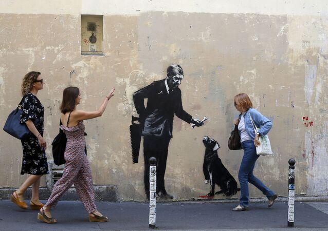 Sokak sanatçısı Banksy'nin eserleri