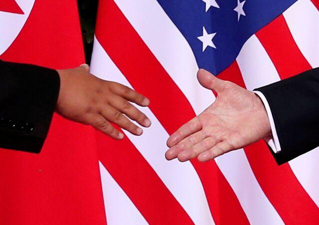 ABD Başkanı Donald Trump-Kuzey Kore lideri Kim Jong-un