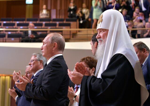 Rusya Devlet Başkanı Vladimir Putin- Rus Ortodoks Kilisesi Patriği Kirill