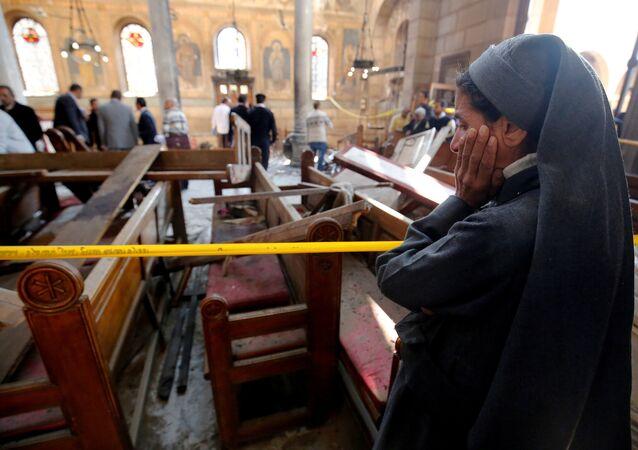 Kahire'de 2016'da Kıpti Katedrali'ne yapılan bombalı saldırı