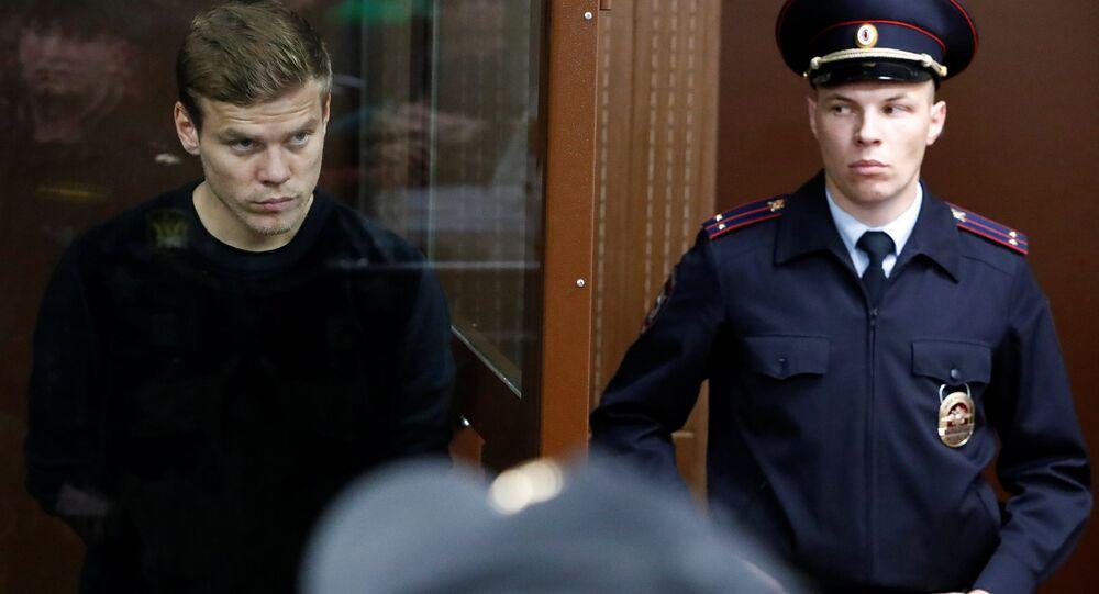 Alexander Kokorin Moskovo'daki duruşmada