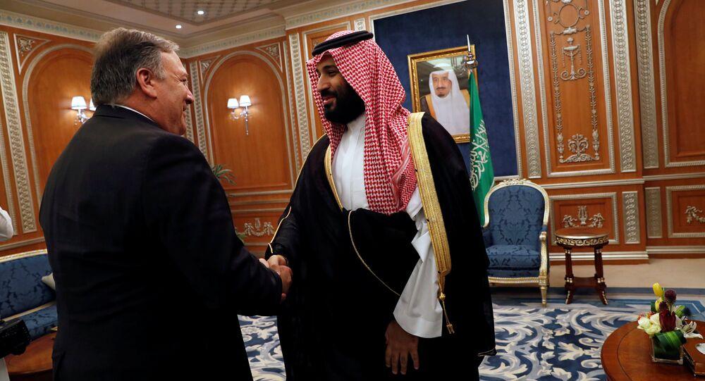 Kaşıkçı vakası yüzünden Riyad'a giden Pompeo'yu Suudi Veliaht Prensi Muhammed bin Selman da kabul etti.