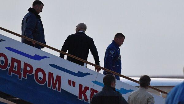 Kozmonot Aleksey Ovçinin ve Astronot Nick Hague - Sputnik Türkiye