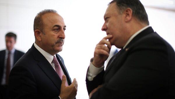 Mevlüt Çavuşoğlu - Mike Pompeo - Sputnik Türkiye
