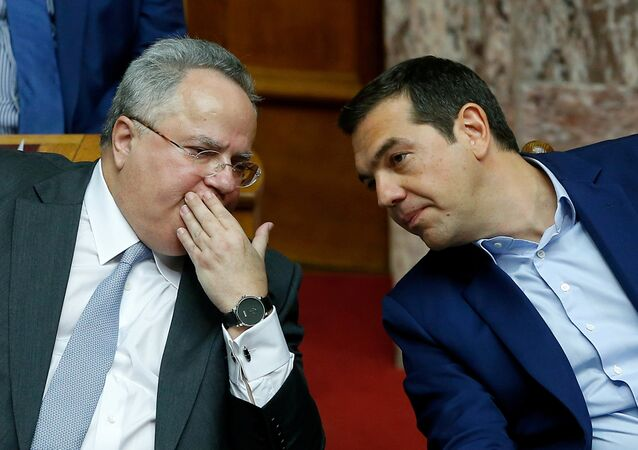 Yunanistan Dışişleri Bakanı Nikos Kocyas- Başbakan Aleksis Çipras