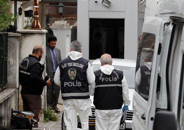 Suudi Arabistan Başkonsolosluk konutu, olay yeri inceleme ekibi
