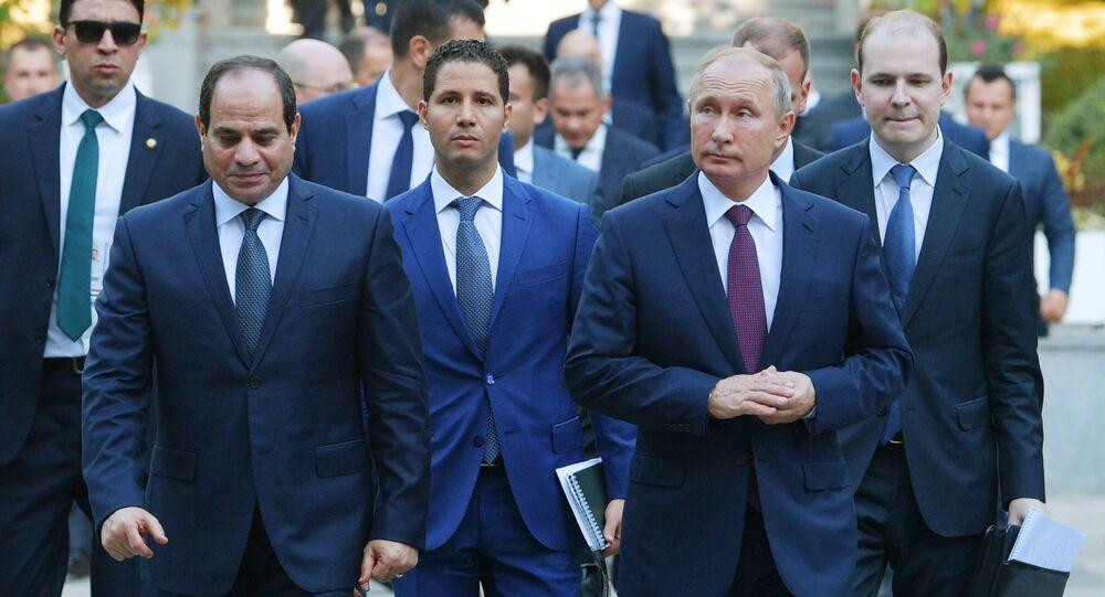 Mısır Cumhurbaşkanı Abdulfettah el Sisi - Rusya Devlet Başkanı Vladimir Putin