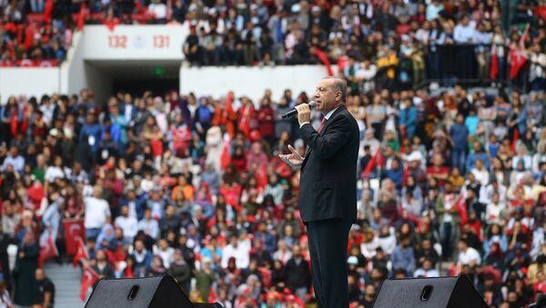 Erdoğan Diyarbakır Stadyumunu'nun açılışında - Sputnik Türkiye