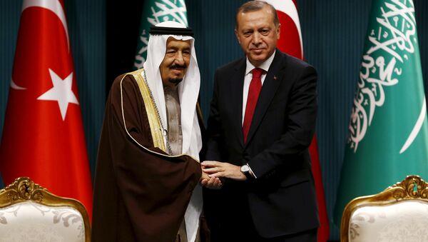 Suudi Kralı Selman ile Cumhurbaşkanı Erdoğan - Sputnik Türkiye