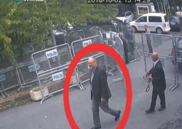 Gerçek Cemal Kaşıkçı'nın 2 Ekim'de Suudi Arabistan İstanbul Başkonsolosluğu'na ön kapıdan giriş görüntüleri