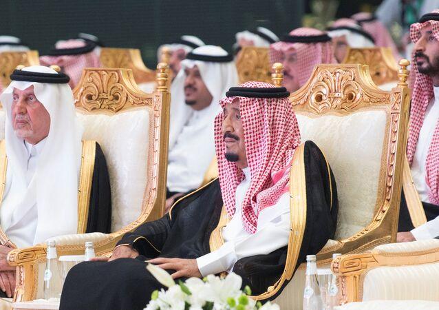 Suudi Kralı Selman ve kraliyetin önde gelenleri