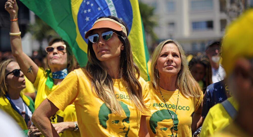 Jair Bolsonaro mitingi