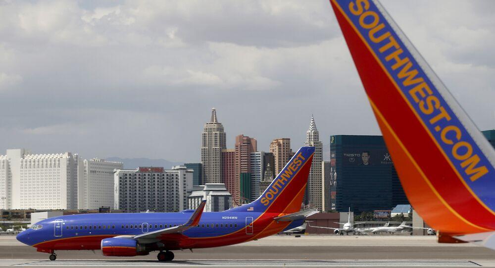 ABD'nin Las Vegas havalimanında Southwest Havayolları uçağı