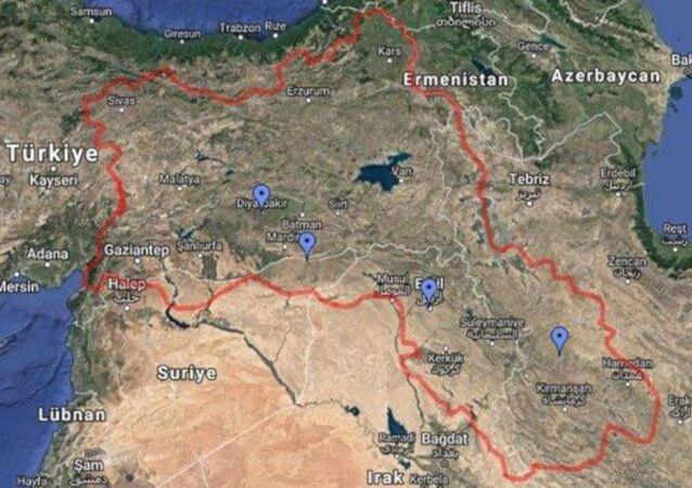 Google'daki 'Kürdistan' haritası