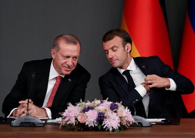 Türkiye Cumhurbaşkanı Recep Tayyip Erdoğan ve Fransa Cumhurbaşkanı Emmanuel Macron