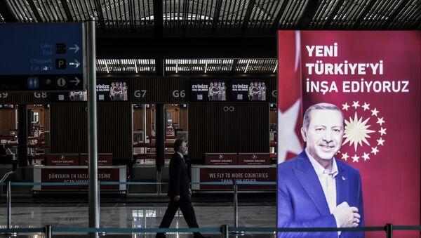 3. havalimanında Erdoğan posteri - Sputnik Türkiye