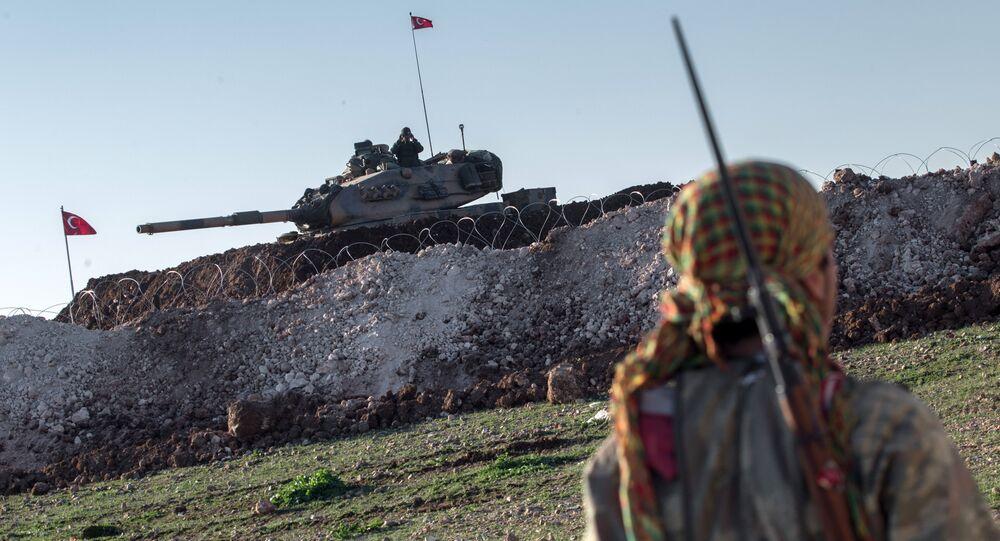 YPG ile TSK'ye ait tank
