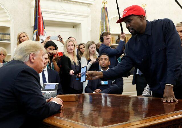 Beyaz Saray'da Donald Trump-Kanye West buluşması, 11.10.2018
