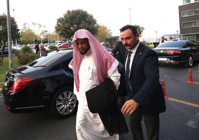 Suudi Arabistan Başsavcısı Suud El Muceb, Atatürk Havalimanı'ndan özel uçakla ülkesine döndü.