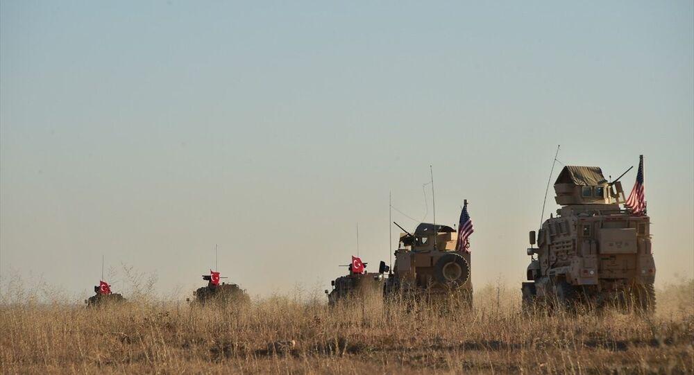 TSK ile ABD ordusunun Menbiç'teki ortak devriyesinden ilk görüntüler
