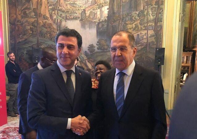 Rusya Dışişleri Bakanı Sergey Lavrov ve  TOBB- Tobtim Rusya Genel Müdürü Sabahattin Yavuz