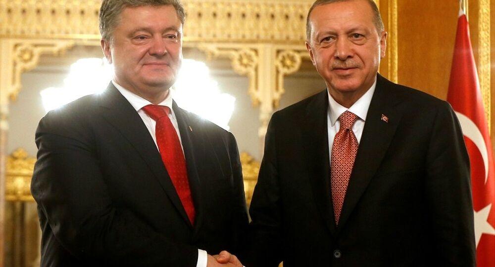 Türkiye Cumhurbaşkanı Recep Tayyip Erdoğan, Ukrayna Devlet Başkanı Petro Poroşenko