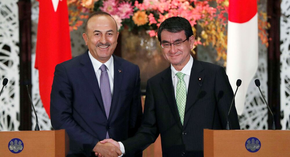 Japonya Dışişleri Bakanı Taro Kono- Dışişleri Bakanı Mevlüt Çavuşoğlu