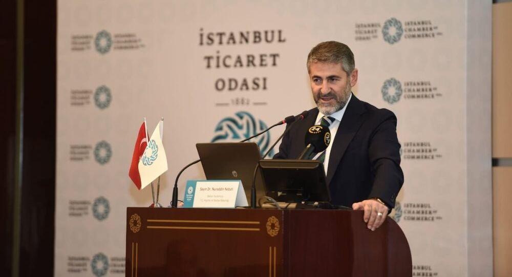 Hazine ve Maliye Bakan Yardımcısı Nureddin Nebati, İstanbul Ticaret Odası'nın (İTO),  Arap-Türk İş Adamları Derneği (ARTİAD) ile beraber İTO Meclis Salonu'nda düzenlediği 'Türkiye'deki Arap Yatırımlarının Dünü, Bugünü ve Yarını' başlıklı seminerde, Arap işadamlarına seslendi.