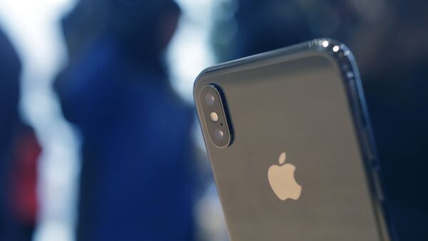 The Apple iPhone X sits on display at the new Apple Michigan Avenue store along the Chicago River Friday, Nov. 3, 2017, in Chicago.  - Sputnik Türkiye