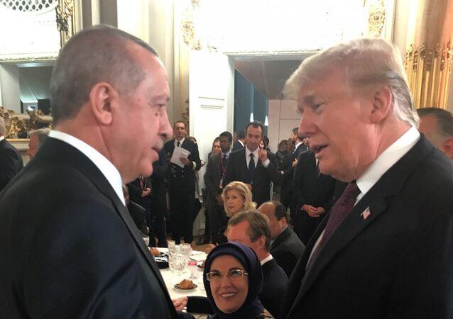 Cumhurbaşkanı Recep Tayyip Erdoğan ile ABD Başkanı Donald Trump