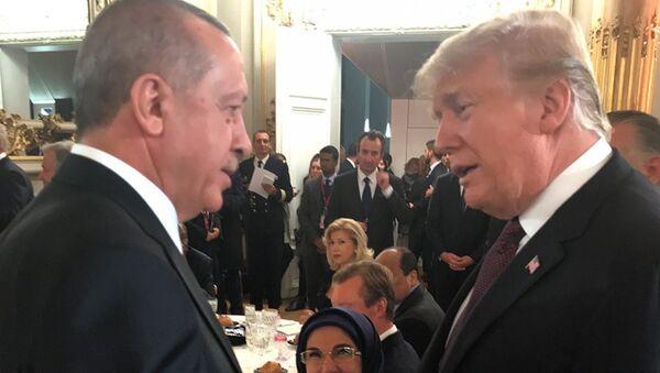 Cumhurbaşkanı Recep Tayyip Erdoğan ile ABD Başkanı Donald Trump - Sputnik Türkiye