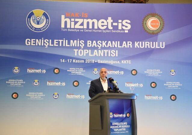 Hak-İş Konfederasyonu ve Hizmet-İş Sendikası Genel Başkanı Mahmut Arslan