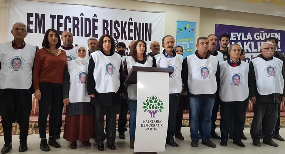 Diyarbakır'da 16 HDP'li, Öcalan için açlık grevi başlattı