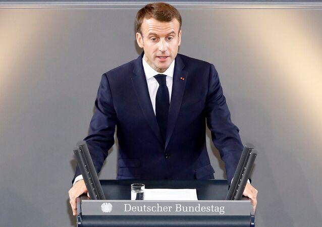 Fransa Cumhurbaşkanı Emmanuel Macron, Almanya Federal Meclisi'nde konuştu