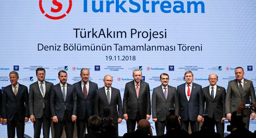 Türk Akımı töreni aile fotoğrafı