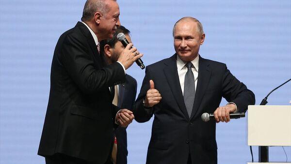 Türkiye Cumhurbaşkanı Recep Tayyip Erdoğan- Rusya Devlet Başkanı Vladimir Putin - Sputnik Türkiye
