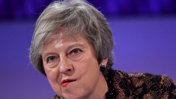 Theresa May Londra'da bir soru cevap seansında - Sputnik Türkiye
