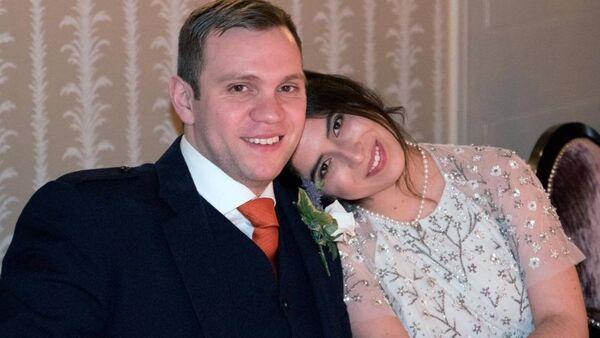 Hapis cezası verilen Matthew Hedges ve eşi Daniela Tejada - Sputnik Türkiye