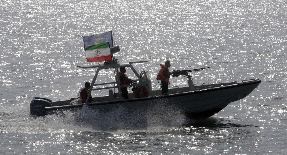 an Iranian Revolutionary Guard speedboat