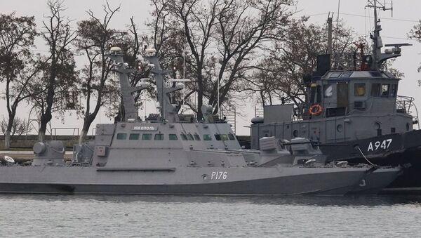 Kerç Boğazı'nda alıkonulan Ukrayna gemileri - Sputnik Türkiye